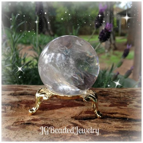 Crystal Ball Stand Golden