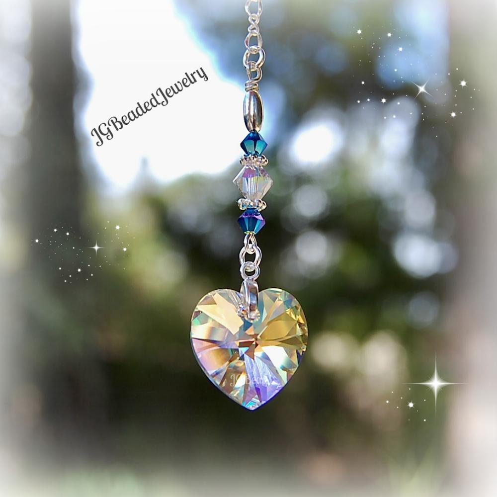 Hearts jg beads for Swarovski decoration crystals