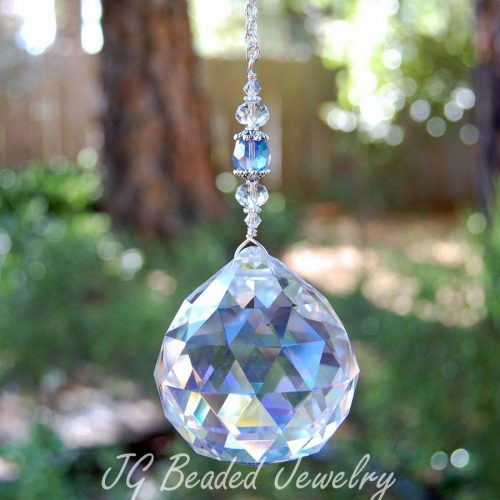 Large Hanging Prism Crystal Suncatcher