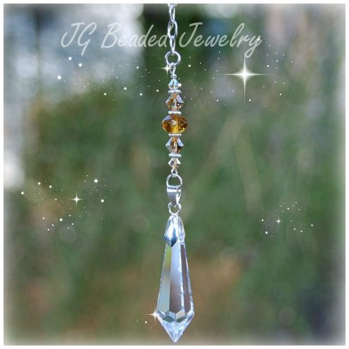 Colorado Topaz Crystal Suncatcher