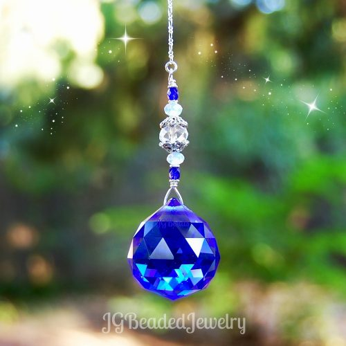 Cobalt Blue Crystal Suncatcher