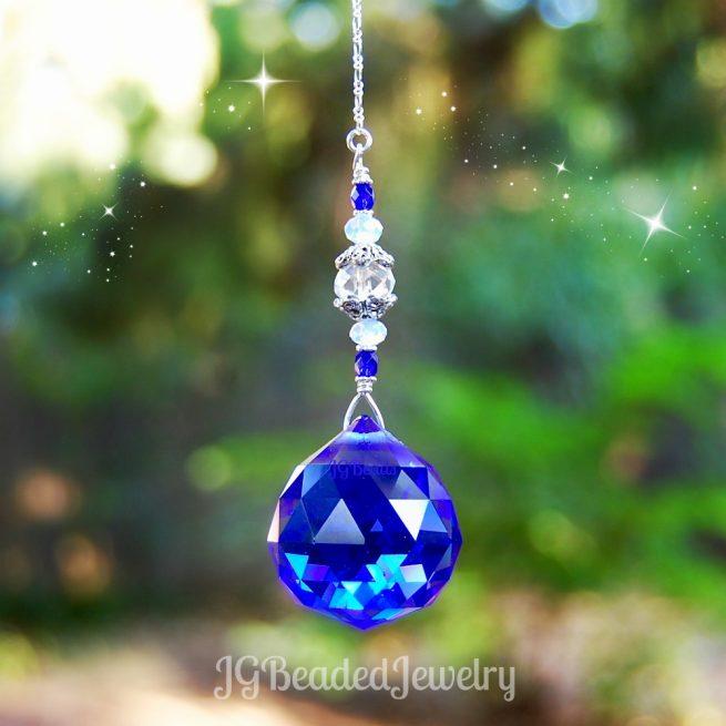 Cobalt Blue Crystal Suncatcher