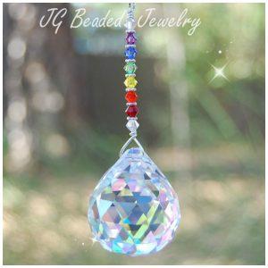 Swarvoski Rainbow Prism Crystal Suncatcher