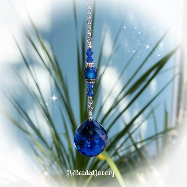 Blue Color Changing Swarovski Crystal Suncatcher