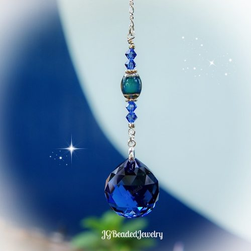 Blue Color Changing Swarovski Crystal Suncatcher