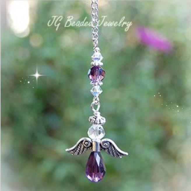 Purple Angel Rearview Charm