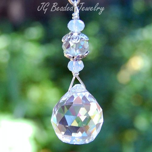 Crystal Ball with Opalite Car Decoration