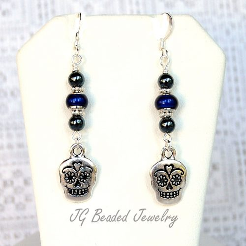Sugar Skull Mood Earrings