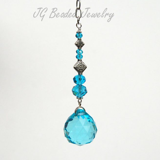 Blue Crystal Car Charm