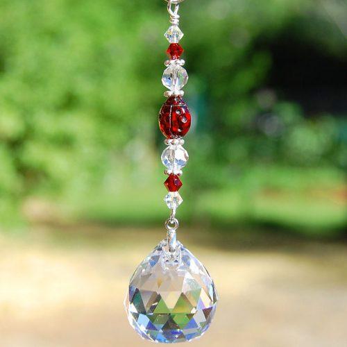 Ladybug Crystal Suncatcher