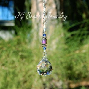 Hanging Crystal with Mood Bead