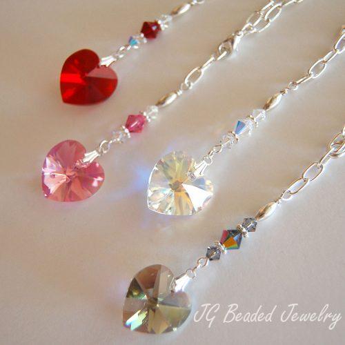 Red Heart Swarovski Crystal