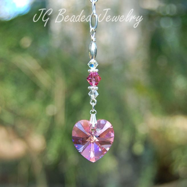 Swarovski Pink Heart Crystal