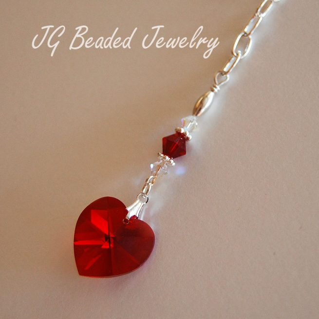 Red Heart Swarovski Crystal Decoration