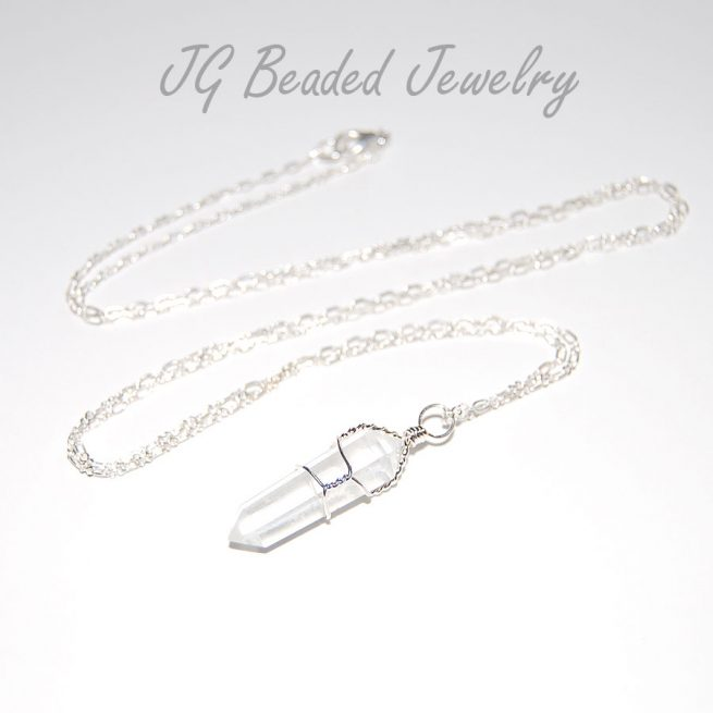 Long Quartz Crystal Necklace