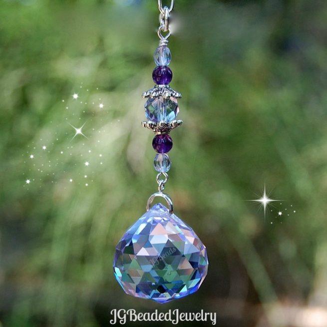 Purple Amethyst Swarovski Prism Suncatcher