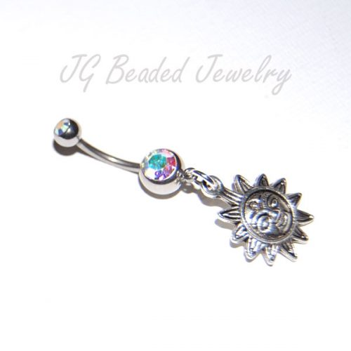 Sun Charm Belly Button Ring