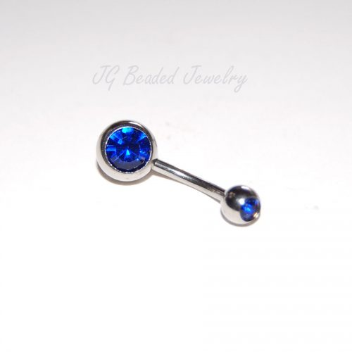 Sapphire Belly Button Ring