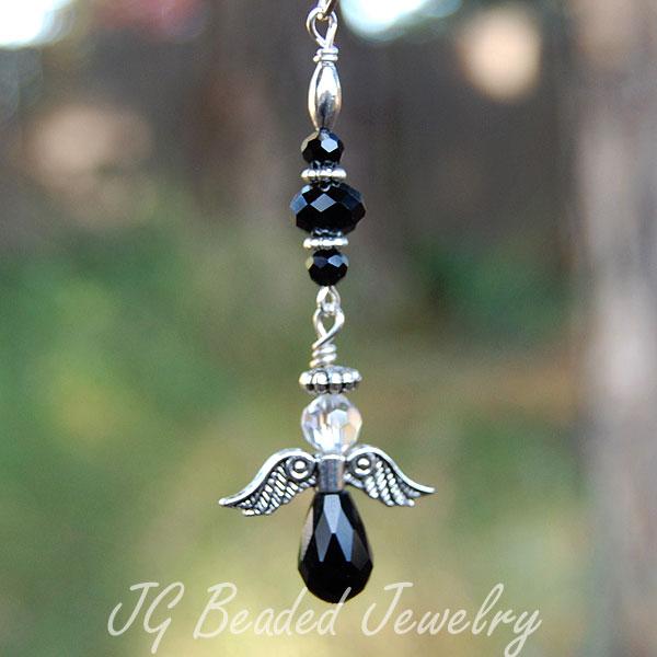 Black Angel Car Charm