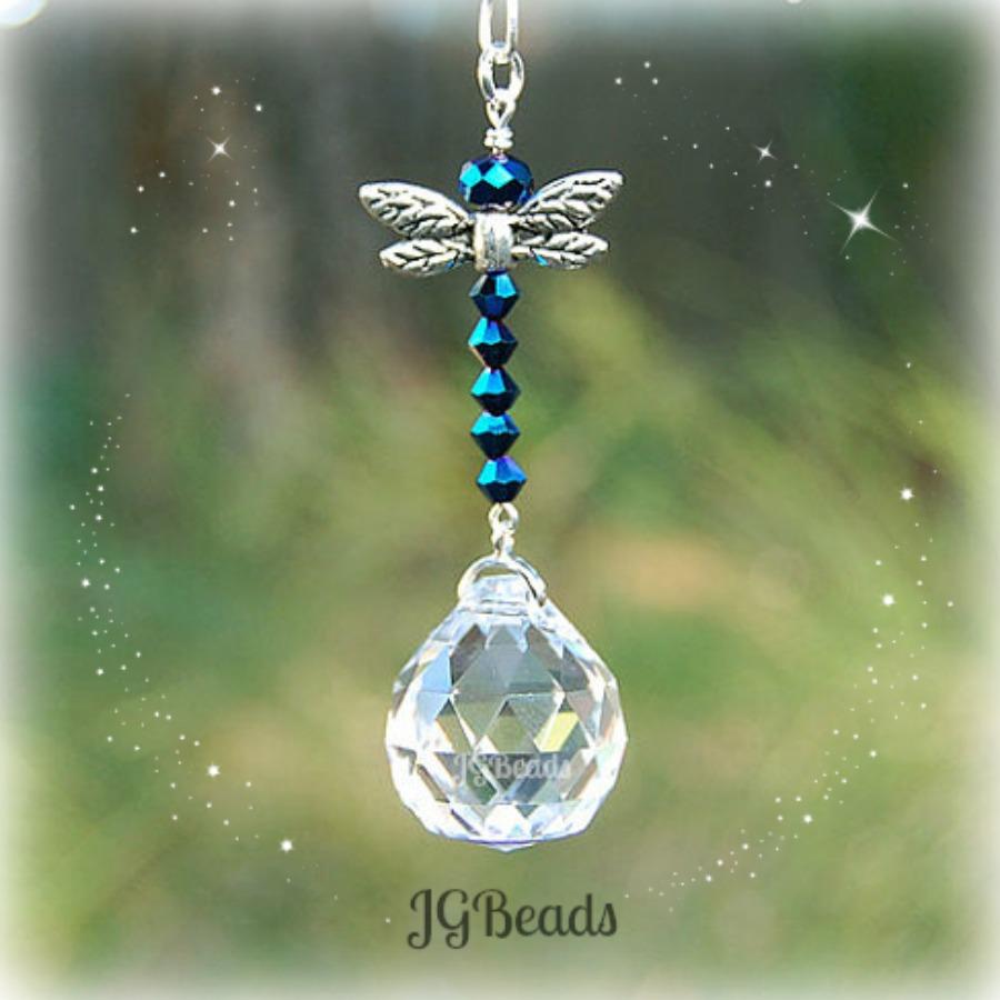 Blue Iris Dragonfly