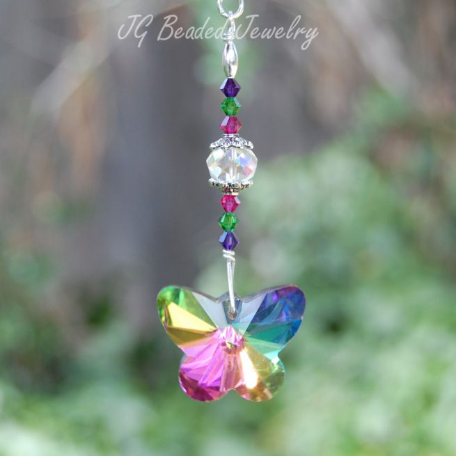 Crystal Butterfly Decoration