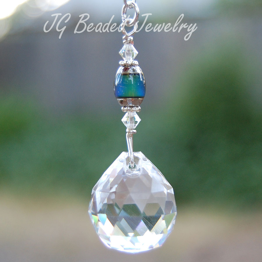 Hanging Crystal Decoration With Mood Bead