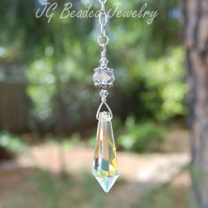 Teardrop Hanging Crystal