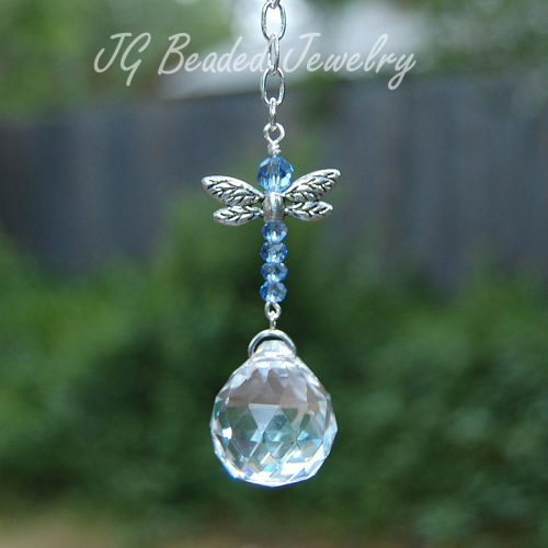 Light Blue Dragonfly Suncatcher