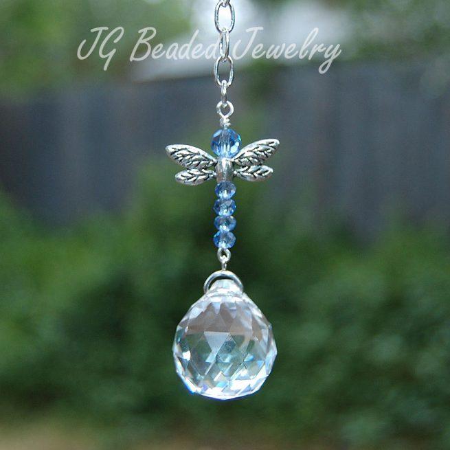 Light Blue Dragonfly Suncatcher
