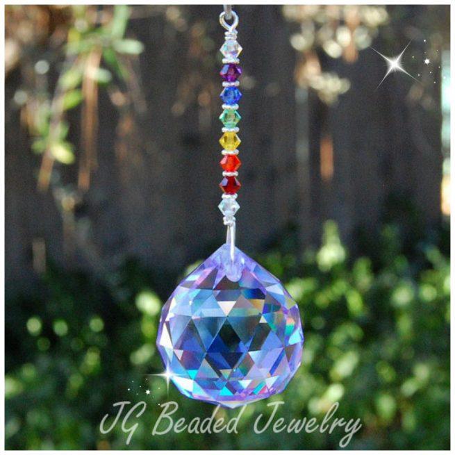Light Purple Rainbow Crystal