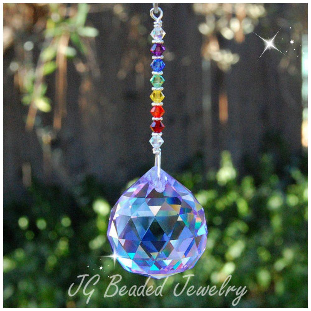 Light Purple Rainbow Crystal Jg Beads