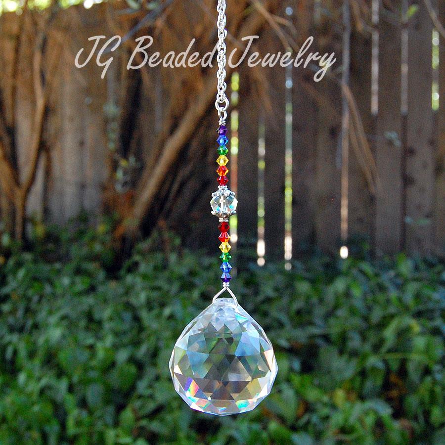 Swarovski Rainbow Crystal Suncatcher Jg Beads