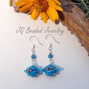 Turquoise Evil Eye Earrings