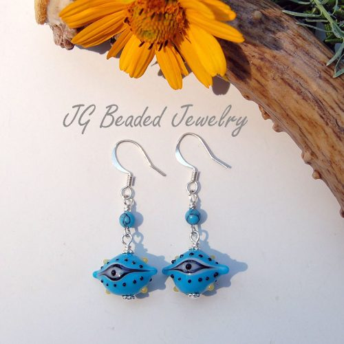 Third Eye Earrings With Turquoise