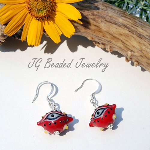 Red Third Eye Earrings