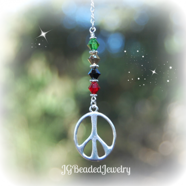 Rasta Peace Sign Car Decoration