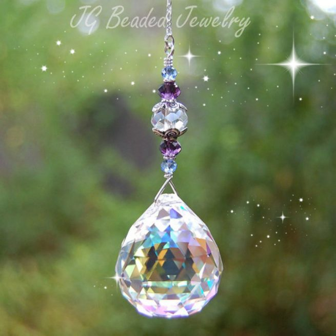 Blue Purple Suncatcher
