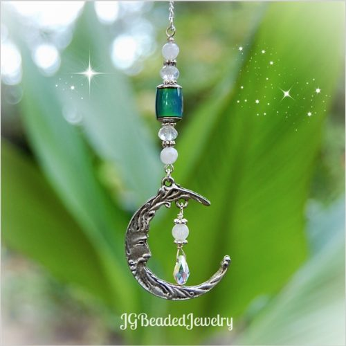 Color Changing Moon Gemstone Decoration
