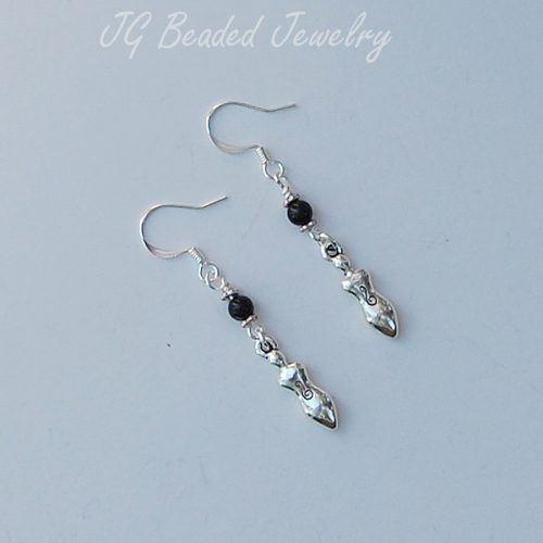 Black Onyx Goddess Earrings