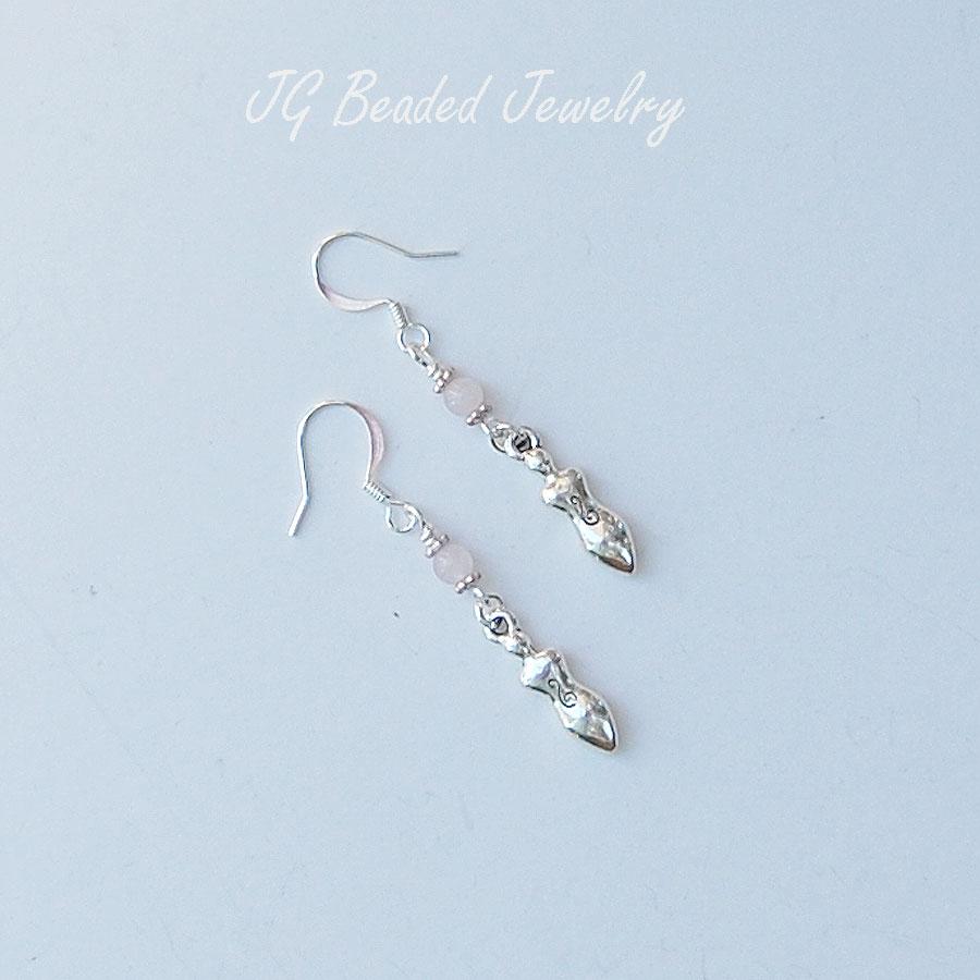 Silver Goddess Charm Earrings