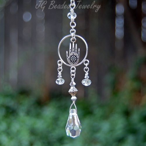 Henna Hand Crystal Decoration