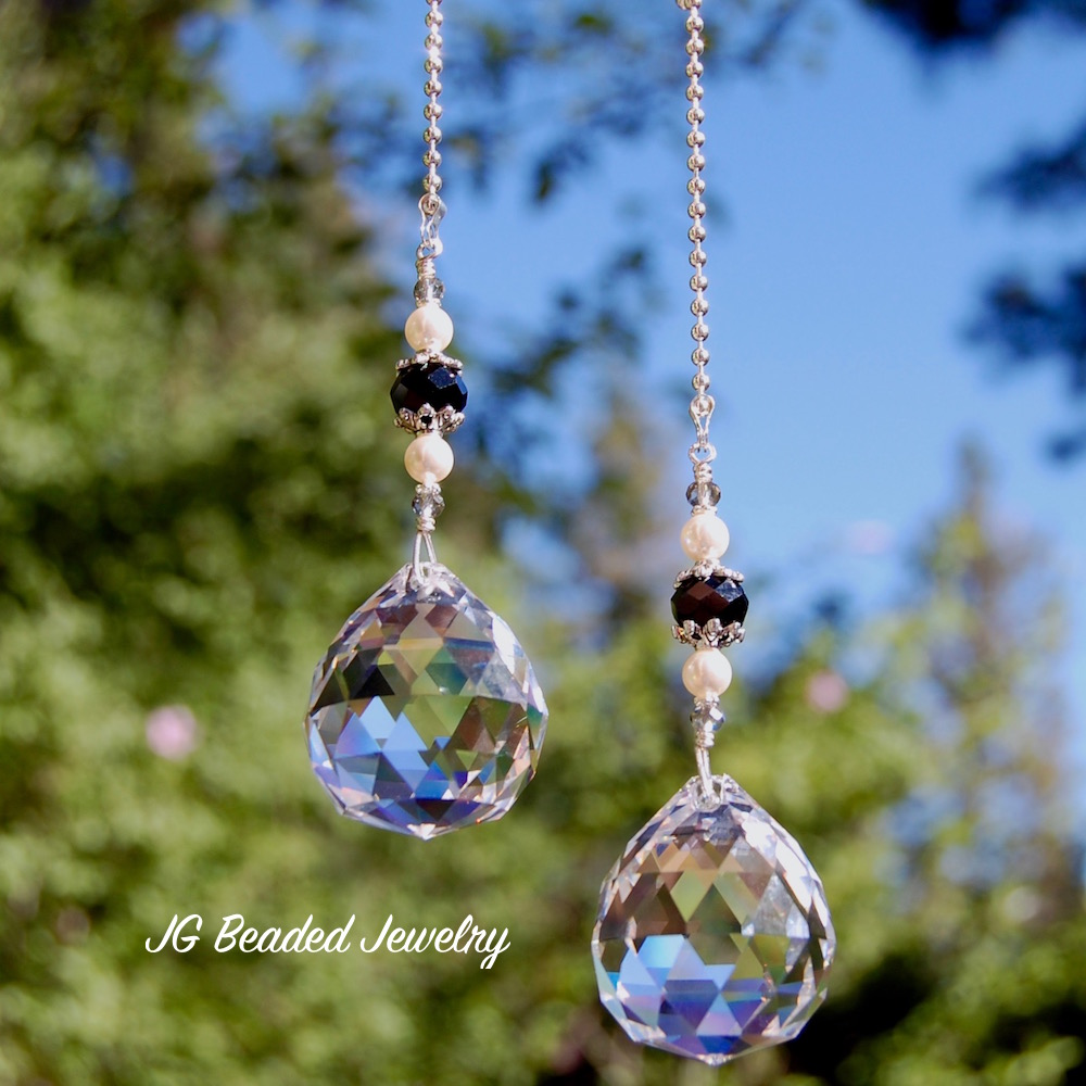 Crystal Light Pull With Pearls