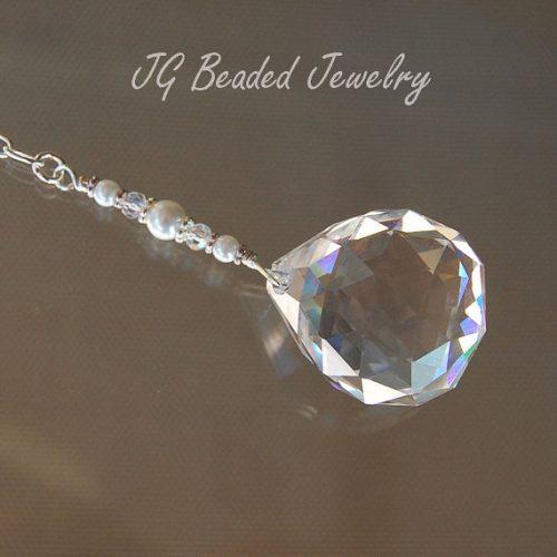 Hanging Pearl Prism Crystal