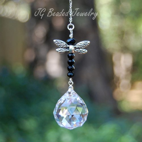 Black Dragonfly Suncatcher
