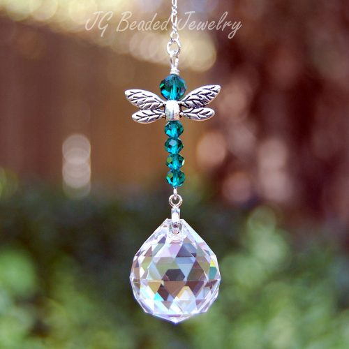 Emerald Green Dragonfly Suncatcher
