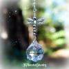 Silver Dragonfly Crystal Suncatcher