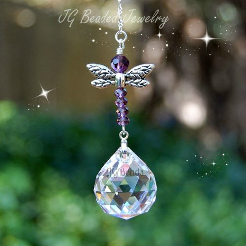 Purple Dragonfly Suncatcher