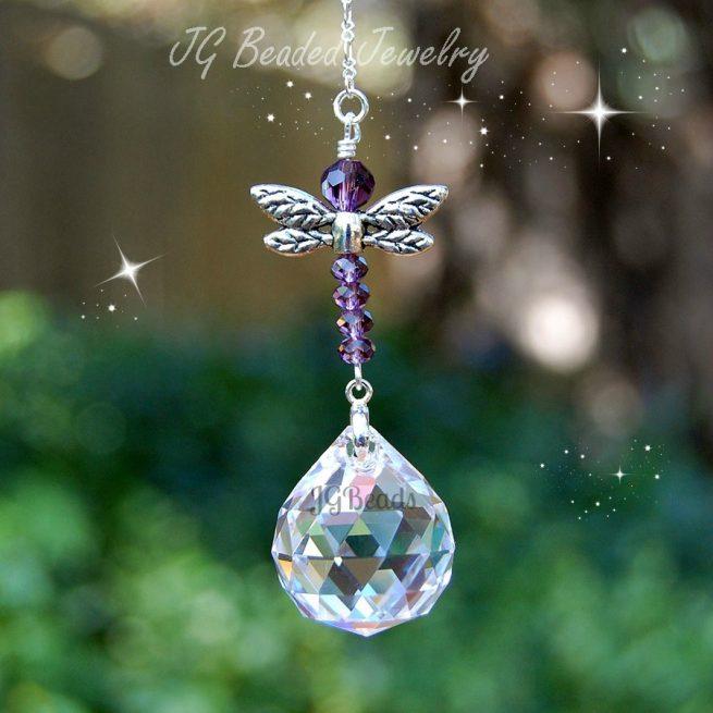 Purple Dragonfly Suncatcher