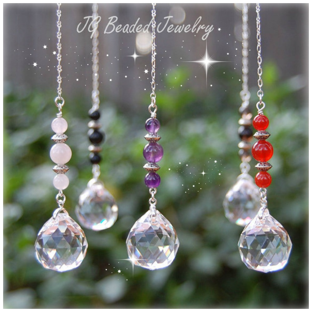 Gemstone Crystal Suncatcher