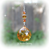 Fire Opal Crystal Suncatcher